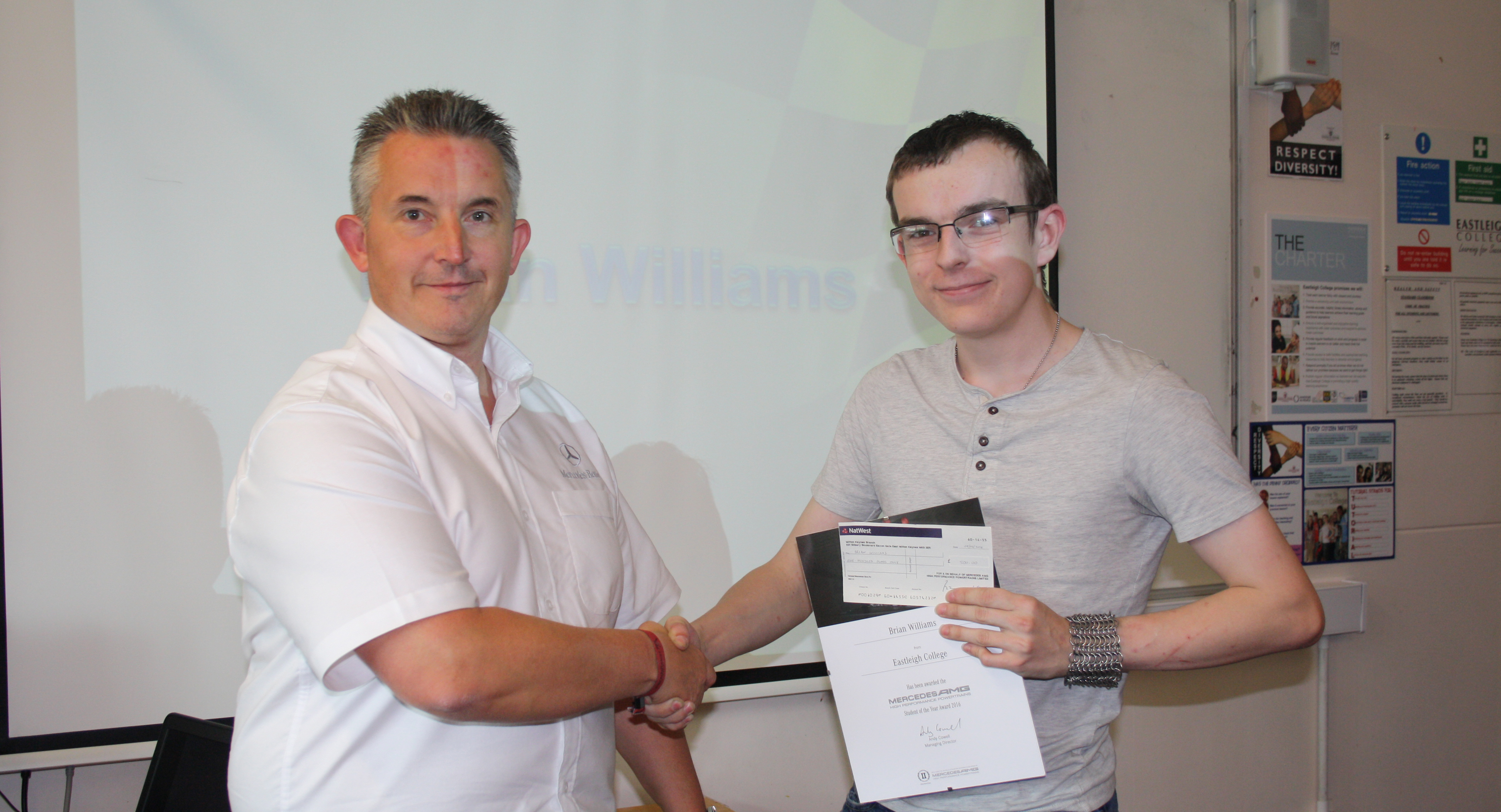 Engineering student in pole position for exciting career